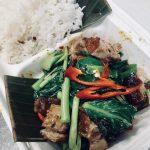 Gailan Pork + Rice